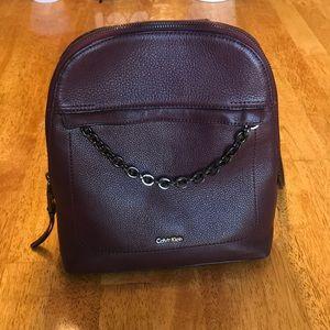 Calvin Klein Small Rum Raisin Hera Backpack